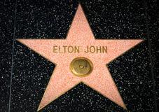 在好莱坞星光大道的艾尔顿・约翰星 免版税库存图片