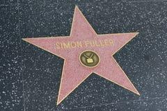 在好莱坞星光大道的西蒙更加充分的星 库存图片