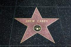 在好莱坞星光大道的Drew Carey星 免版税库存照片