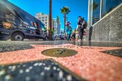 在好莱坞步行的罗德尼Bingenheimer星 免版税库存图片
