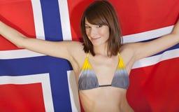 在妇女的标志挪威 免版税库存照片