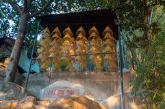 在妈阁庙,澳门的巨大的螺旋香火 免版税库存照片