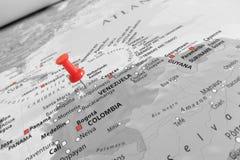 在委内瑞拉的红色标志 免版税库存图片