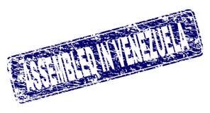 在委内瑞拉装配的难看的东西构筑了被环绕的长方形邮票 向量例证