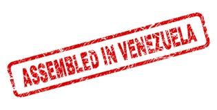 在委内瑞拉装配的难看的东西环绕了长方形邮票 库存例证