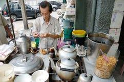 在姜糖浆,中国点心的大豆乳蛋糕 库存照片