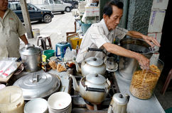 在姜糖浆,中国点心的大豆乳蛋糕 库存图片