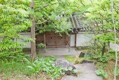 在姬路城堡,日本附近的Kokoen庭院 免版税库存图片