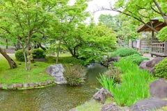 在姬路城堡,日本附近的Kokoen庭院 图库摄影