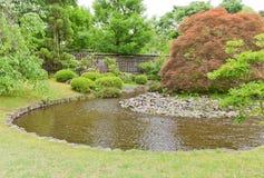 在姬路城堡,日本附近的Kokoen庭院 免版税库存照片