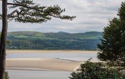 在威尔士海岸的景色 库存图片