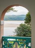 在威尔士海岸的景色 免版税库存图片