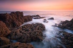 在威尔士采取的海景,英国。 免版税库存照片