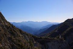 在威尔逊山天文台,南加州附近的看法 库存照片