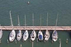 在威尼斯停泊的风船 图库摄影