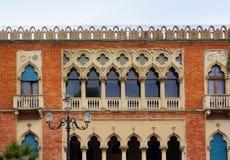在威尼斯式样式的别墅 卡拉布里亚di reggio 免版税库存照片