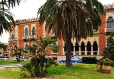 在威尼斯式样式的老别墅 卡拉布里亚di reggio 库存图片