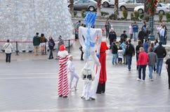 在威尼斯式的高大腿舞,拉斯维加斯 免版税库存照片