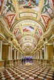 在威尼斯式,旅馆和赌博娱乐场,拉斯维加斯的Italianate天花板, 库存图片