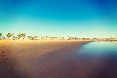 在威尼斯海滩岸的海滩生活 库存照片
