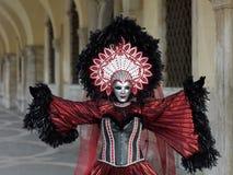 在威尼斯狂欢节的服装 免版税库存照片
