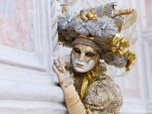 在威尼斯狂欢节的服装 库存照片