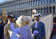 在威尼斯狂欢节的男性面具 免版税库存图片