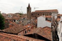 在威尼斯的屋顶 库存照片