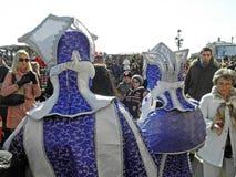 在威尼斯, 15,服装和面具的狂欢节 免版税库存图片