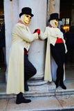 在威尼斯结合面具,意大利,欧洲 免版税库存照片