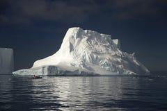 在威德尔海的冰山 库存照片