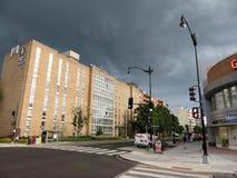 在威斯康辛大道的夏天雷暴 库存图片