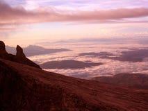 在婆罗洲云彩之上 库存照片