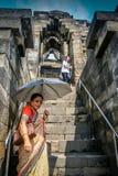 在婆罗浮屠寺庙 免版税库存照片