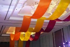 在婚礼作用的丝带装饰 免版税库存照片