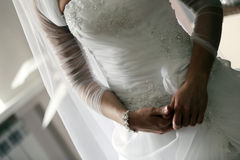 在婚礼前的新娘 库存图片