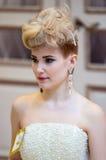 在婚礼发型的趋向 库存照片