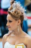 在婚礼发型的趋向 免版税图库摄影