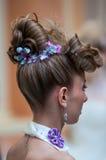在婚礼发型的趋向 库存图片
