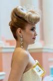 在婚礼发型的趋向 图库摄影