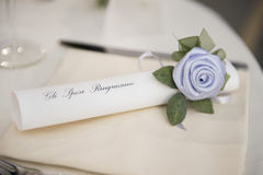 在婚礼桌上的装饰 图库摄影