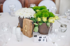 在婚礼的中心部分 图库摄影