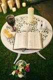 在婚礼的圣经 免版税库存图片