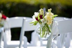 在婚礼的垂悬的花 库存照片