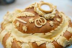 在婚礼的大面包 库存图片