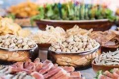 在婚礼的宴会桌,乌克兰 免版税图库摄影