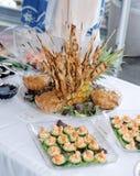 在婚礼的开胃菜 免版税库存图片