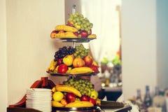 在婚礼的果子 免版税库存照片