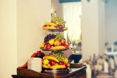 在婚礼的果子 免版税库存图片