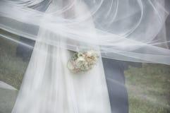 在婚礼的片刻 库存照片